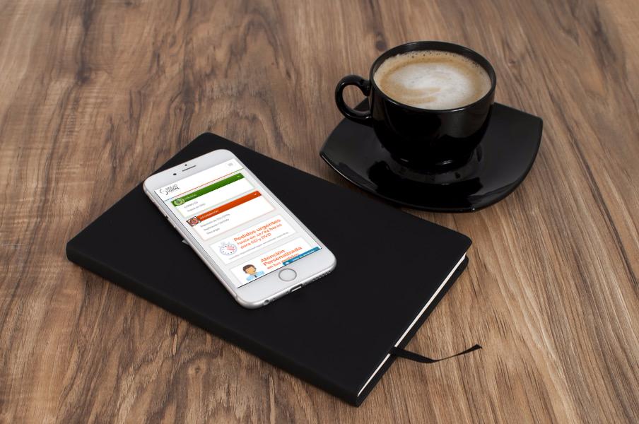 Diseño web para móvil de Espejo Digital Estudio