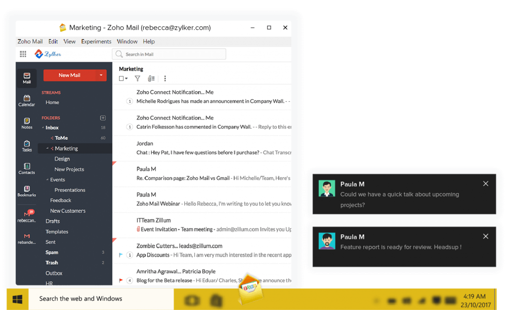 Zoho Mail Desktop