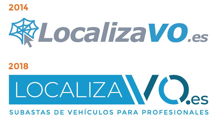 Evolución del logotipo de Localiza V.O.